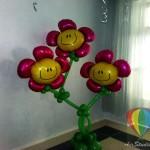 оформление шарами, цветы из шаров брест