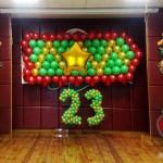 оформление шарами 23 февраля Брест