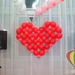 оформление шарами 14 февраля Брест