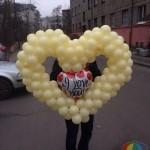оформление шарами, фигуры из шаров Брест