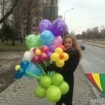 оформление шарами 8 марта Брест